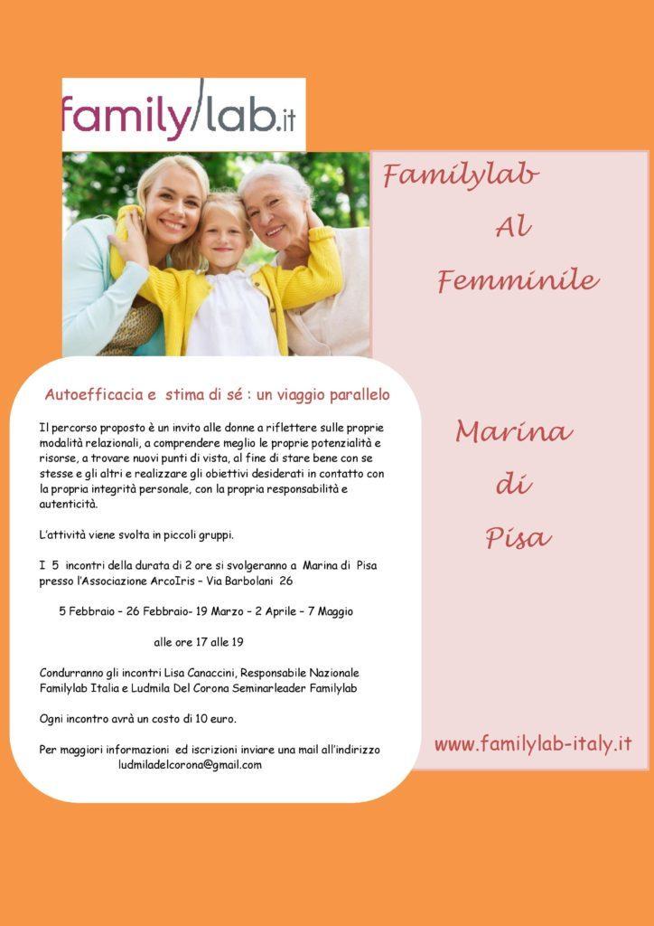 Familylab Al Femminile a Marina di Pisa