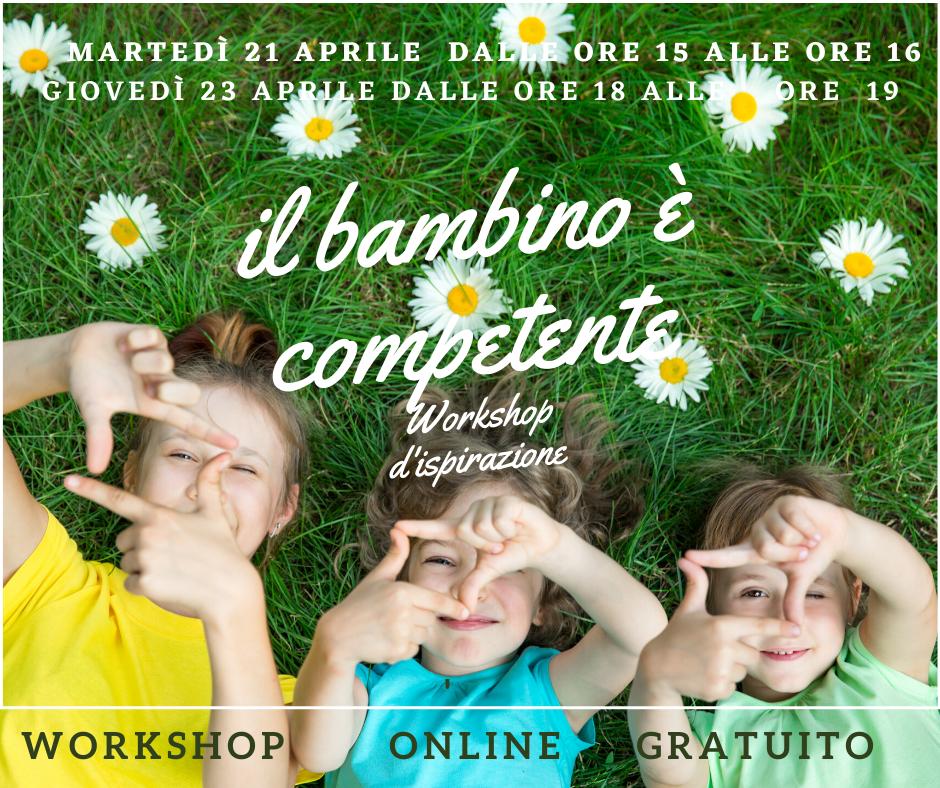 Workshop online  Il bambino è competente